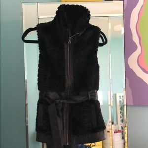 Guess Fur/Leather Vest (M)